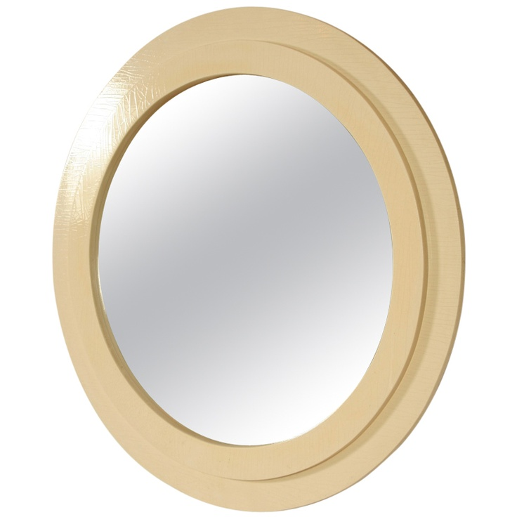 1970s white lacquer round wall mirror mirrors pinterest for White round wall mirror