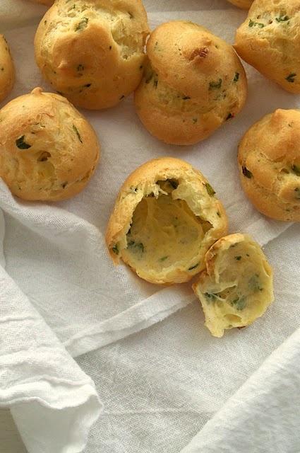 Lemon parsley gougères - A Platter of Figs