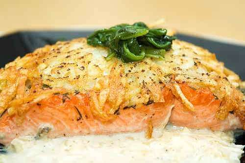 Salmon with Rosti Crust...no idea when i'll find time to make this ...