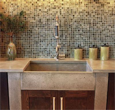 Farmhouse Bar Sink : Kitchen and Bar Sink Design - Dilruba Concrete Farmhouse Sink on ...