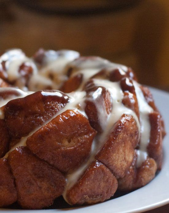 Monkey Bread with Cream Cheese Glaze | Sweets, Treats, & More | Pinte ...