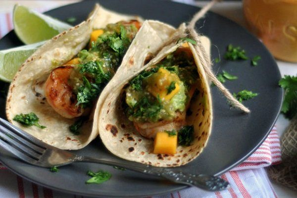 Chipotle-Shrimp Tacos with Roasted Tomatillo Salsa | Turntable Kitchen ...