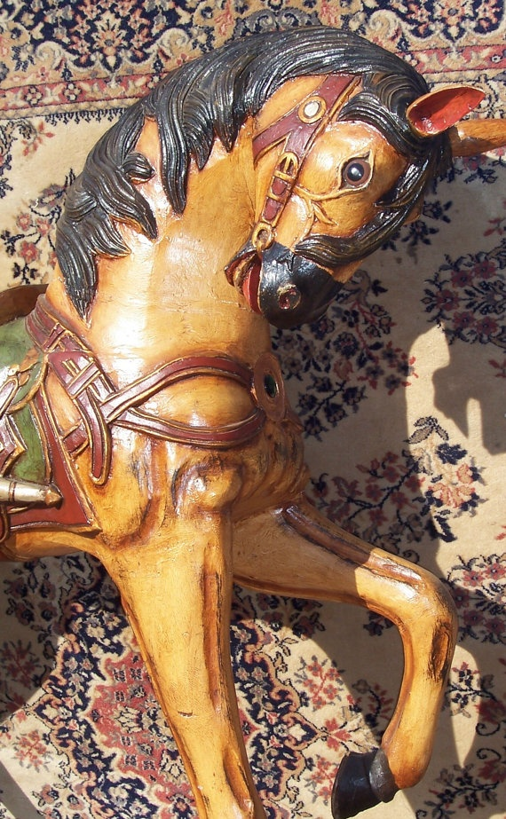 Carousel Horse Wood Large by AuldMemories on Etsy, $3000.00