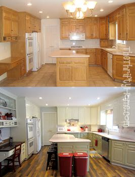 The Thrifty Home Kitchen Remodel Painting Cabinets Without Sanding