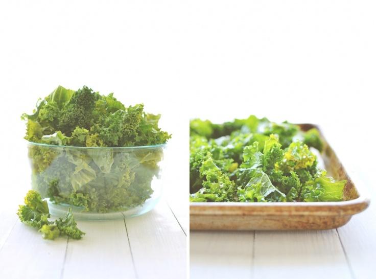 sea salt and vinegar kale chips recipe | Food & Drink | Pinterest