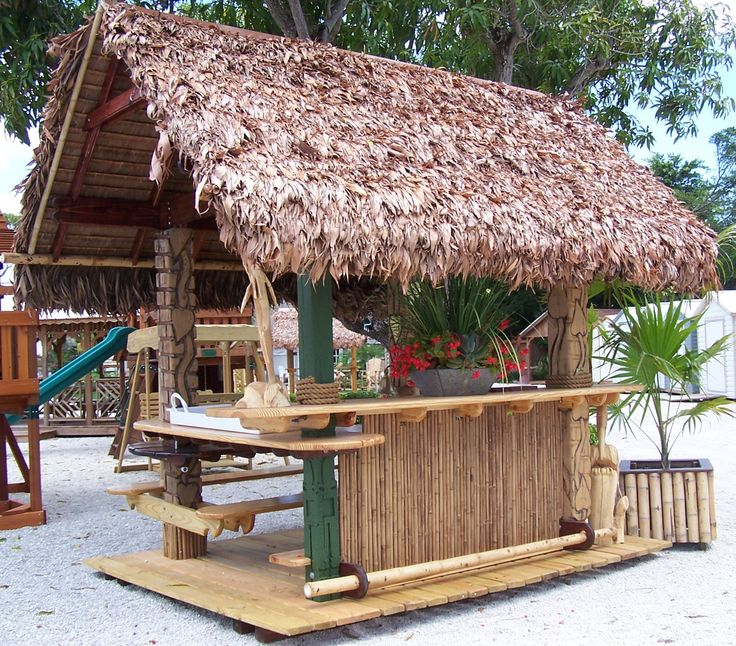 Backyard Tiki Bar Plans : LOVE a tiki bar in my backyard  Patio bars  Pinterest