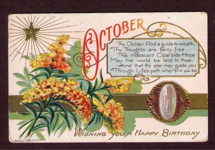October Birthday Ecards ~ October birthday greeting pinterest