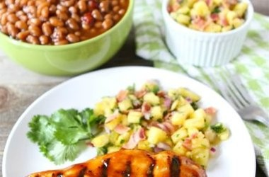 BBQ Chicken with Pineapple Bacon Salsa | Grilling | Pinterest