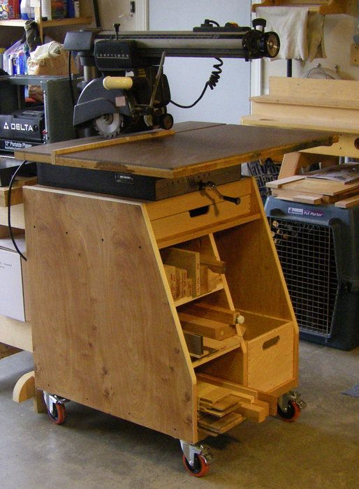 Radial Arm Saw Stand Rich Pinterest