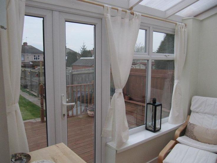 curtains in our conservatory conservatory pinterest