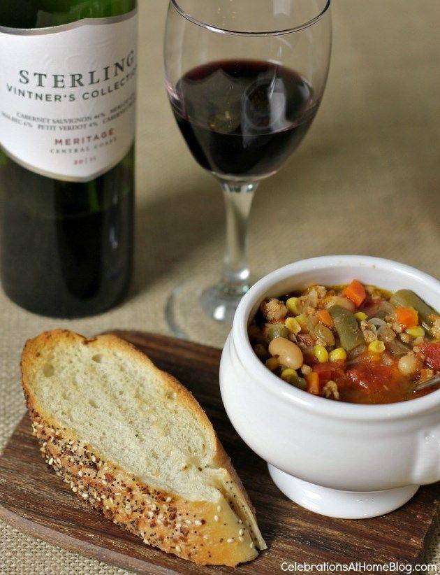 slow cooker Turkey & Vegetable soup