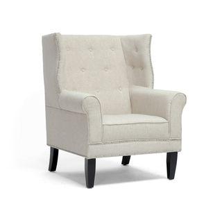 Kyleigh Beige Linen Modern Arm Chairs (Set of 2)