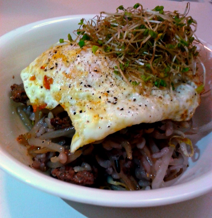 MD cooks for two: Kongnamul Bap - Beansprout Rice