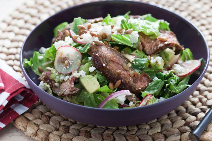Chipotle Steak Salad with Avocado & Toasted Pepitas   Food   Pinterest