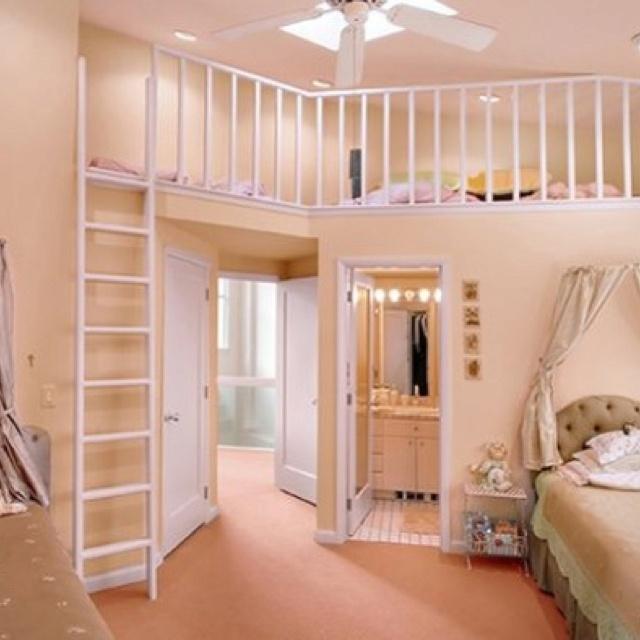 Upstairs Bedroom Loft Girls Bedroom And Bathroom Ideas