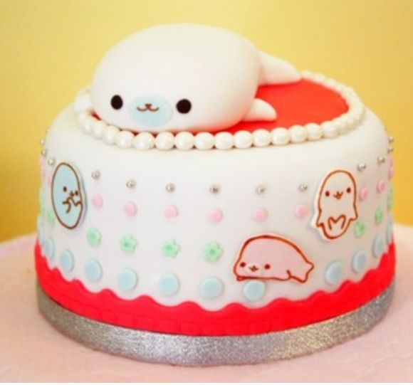 Cute sea lion cake  & let there be cake!  Pinterest