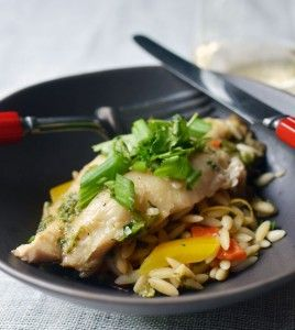 Ginger and Cilantro Baked Tilapia | the finer things | Pinterest