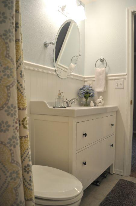 Ikea's Hemnes vanity done well baño Pinterest