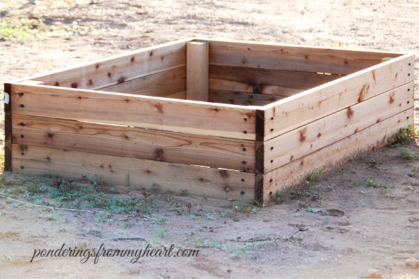 Super easy diy raised bed garden boxes garden ideas Building garden boxes