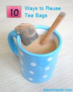 Reuse Tea Bags » Nature Moms I especially love the idea of using tea ...