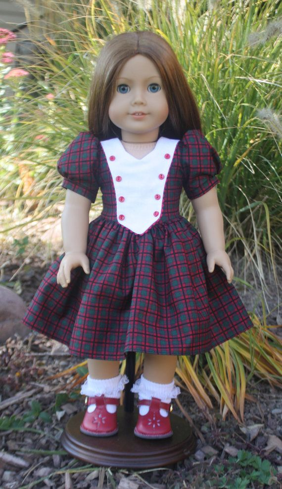 American girl 1940s christmas plaid dress by ruthielovestosew 36 00
