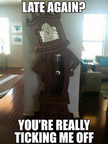 Judgmental Clock | Memes | Best of: Character Memes | Pinterest