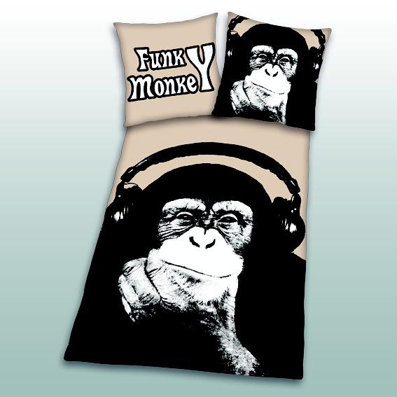 lustige funky monkey bettw sche lustige und witzige. Black Bedroom Furniture Sets. Home Design Ideas