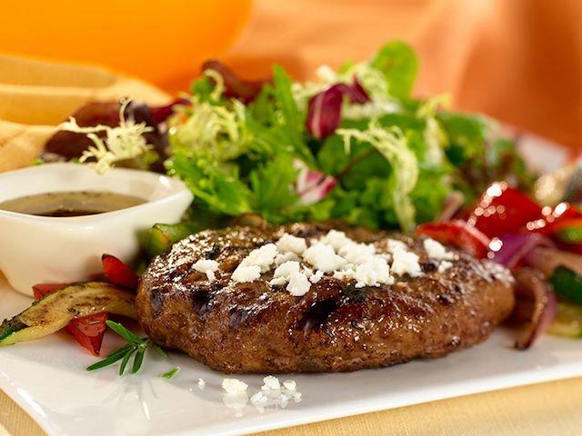Greek Feta Burgers | her magazine: family meals | Pinterest