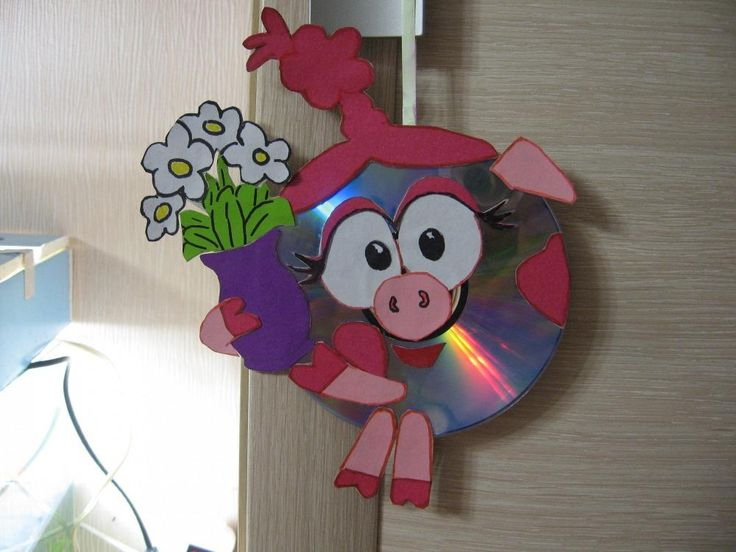 Поделки из дисков для детей