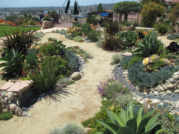 Dry river bed landscaping ideas for Dry garden designs