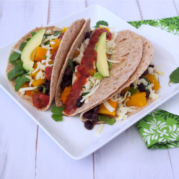 Southwestern Soft Tacos with Roasted Butternut Squash