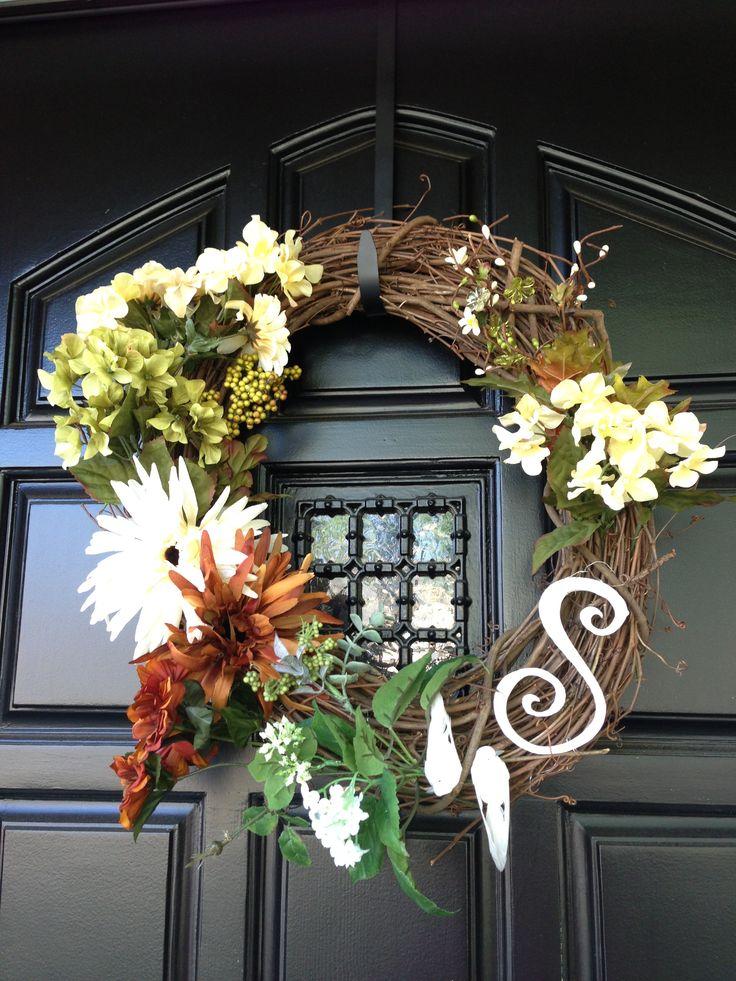 Front Door Wreath House Ideas Pinterest
