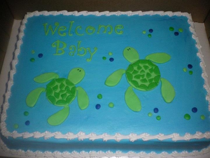 turtle baby shower the corner piece cakes pinterest