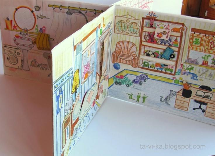 Как сделать домик-книжку для кукол своими руками