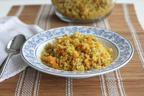Moroccan Quinoa. I made this using walnuts instead of almonds. Served ...
