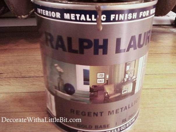 lauren metallic finish latex paint from home depot bronze color