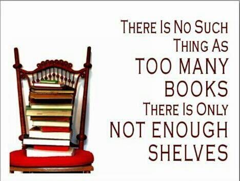 Not enough shelves INDEED! http://media-cache-ak1.pinimg.com/originals/bf/18/a1/bf18a152356d93e02d8edd29bfa98114.jpg