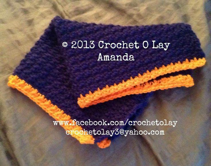 Free Crochet Pattern For Chicago Bears C : Crochet Chicago Bears Security Blanket Crochet O Lay by ...