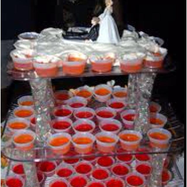 jello shots wedding cake wedding bells pinterest