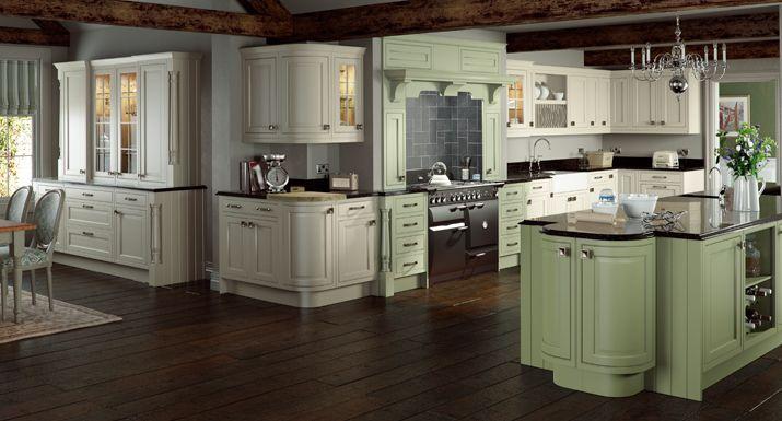 Grey Green Kitchen : Cream and Sage Green Kitchen Cabinets