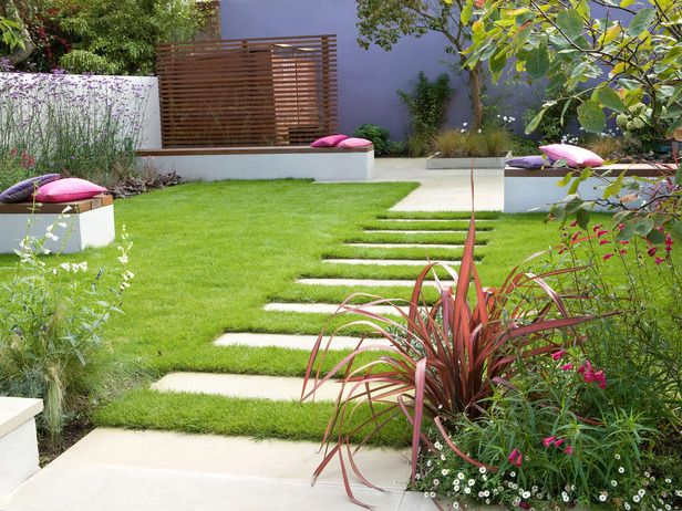 Contemporary Path: Simple pavers make a distinctive path through this clean-lined landscape. From HGTV.com's Garden Galleries