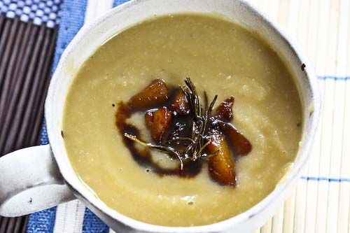 Celery Root and Caramelized Pear Soup | Dinner | Pinterest