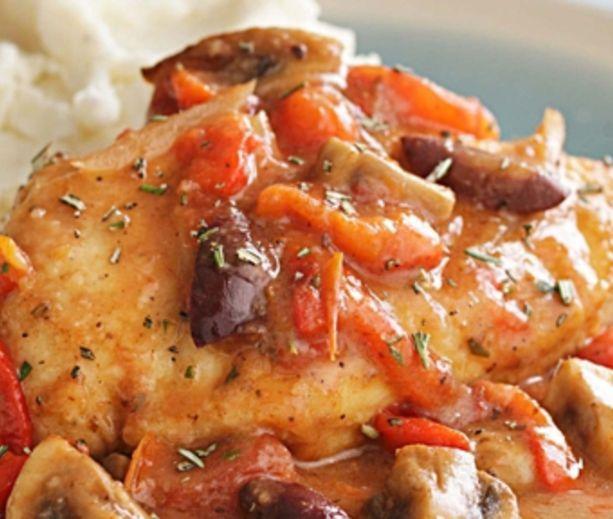 Quick Chicken Cacciatore | Low Carb & Low Calorie Savory | Pinterest