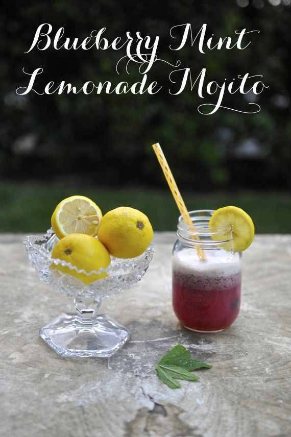 Blueberry Mint Lemonade Turned Mojito | food and more | Pinterest