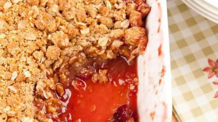 Rum-Filled Baked Apples With Oat Crumble Recipe — Dishmaps