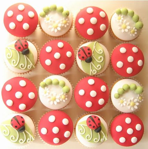 lady bugs cup cakes