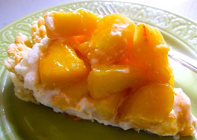 Fresh Peach Cream Tart | Cake & Pie | Pinterest
