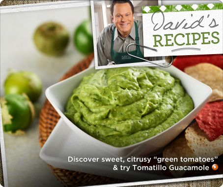Tomatillo Guacamole | In the Kitchen with David | Pinterest