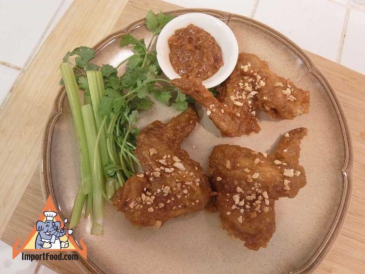 Authentic Thai recipe for Spicy Thai Chicken Wings, 'Peek Gai Nam ...