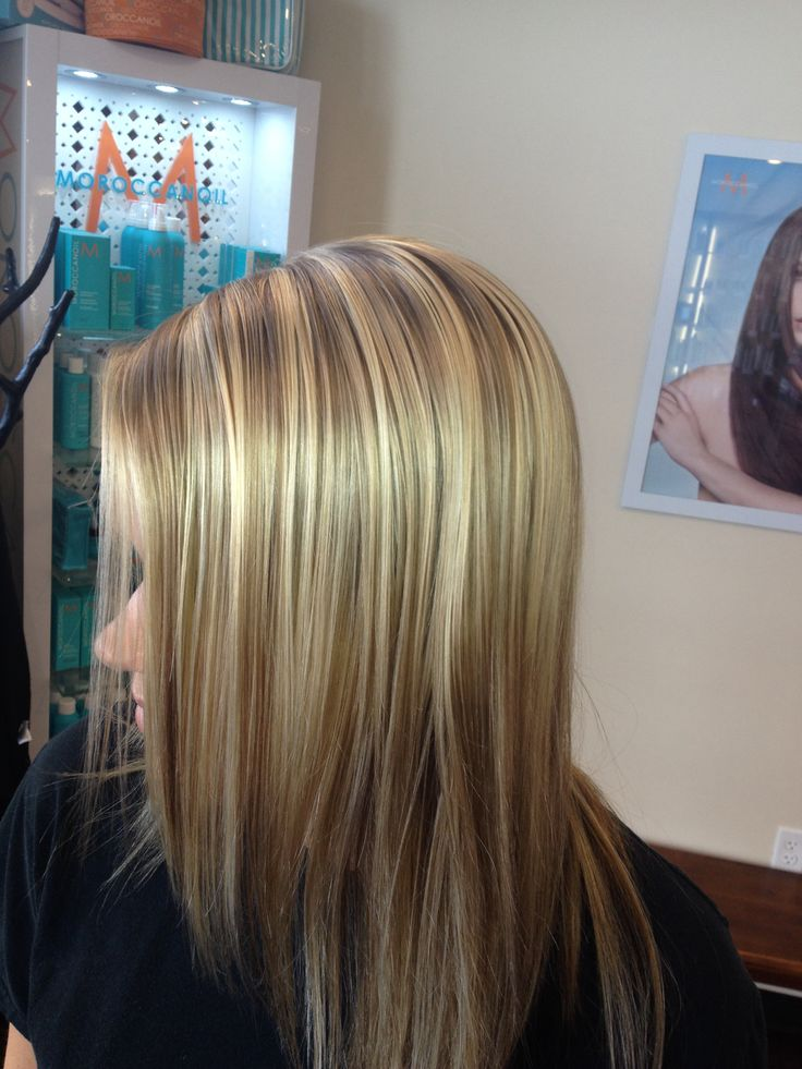 With caramel highlights under all over color vs highlights blonde